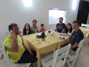 Leonidia Nicolini, o filho Marx Heleno Nicolini/Renata, os netos Miguel e Otávio, o genro  Nilson Luiz Batista com a filha Daniela