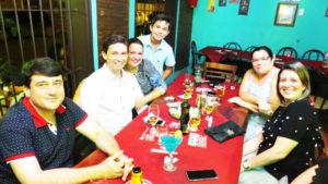 Ronan Gomes Maciel Nassif/Luciana, Caio Costa/Maria Tereza,  e  filho Lucas e Ivana Galdiano <br>
