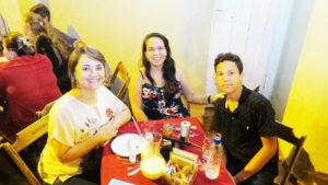 Marília Martins, Maristella Freitas e o filho Neto<br>