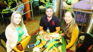 Simone Calimã, Júnior Mauad e Natália Morya<br>