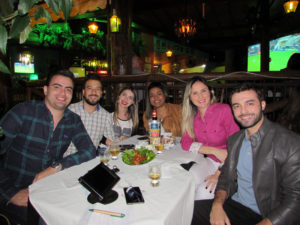 Eduardo Júnior Manfrin, Thiago Silvério, Roberta Moises, Daniela Martins, Juliana Pacheco e Bruno Gorricho