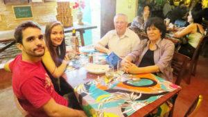 Gercino Pistori/Lilian, Alexandre Vidal  e a namorada Luciana Santos de Paula
