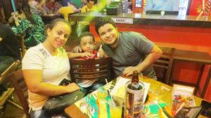 Anderson Campos/ Ana Paula  e o filho Yuri