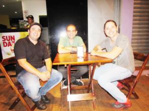 "Samuel Garcia, Igor Souza e Roberto Inácio Barbosa Filho ""Betô""<br>"