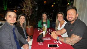 Ítalo Bonomi, Cláudia Belo, Letícia Monteiro, Michel Teotônio e Isabela Picollo<br>