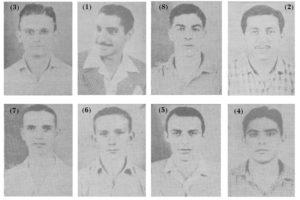 """Em 8 de outubro de 1949, Ituverava disputou os Jogos Abertos do Interior, em Rio Claro. Na  modalidade bola ao cesto, faziam parte o da delegação (1) Cecim Miguel, que era o chefe, os diretores Vitório Mattar, William Mattar e (2) Alexandre Miguel (""""Bueno""""), (3) o técnico era José França.  Integravam a comitiva os atletas: (4) Ibraim Alexandre Abrahão, (5) Mariano Giffoni, (6) Ézio Athayde de Souza, (7) João Geraldo Coimbra, (8) Urias Luiz da Silva, José Abdala (""""Zito""""),  e  José Jacob Cury (""""Chanca"""").  Também faziam parte da  erquipe : José Mauad, Irineu Alexandre (""""Teixeirinha""""), Jesus Rodrigues (""""Capucha""""),  que não estão na foto"""