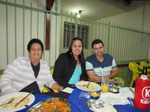 Carlos Faria, Lívia Rezende e  Maria de Lourdes Rezende