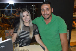 Diogo Tannous e a namorada Natália Soares
