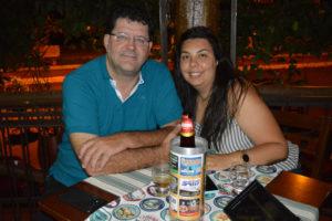 Alfredo Fadel de Almeida e a namorada Jaqueline Bento