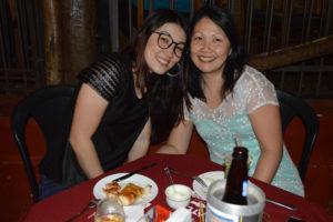 Patrícia Furutami e a prima Elaine Maeda