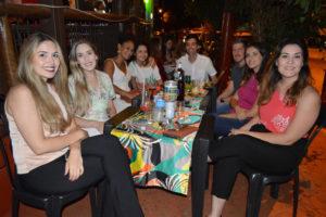 Aline Bechara, Marina Dantas, Júlia Mathias, Júlia Medeiros, João Pedro Neves, Luís Fernando Bosae a namorada Lamiz Bechara e Giane Bechara