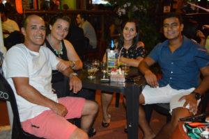 Paulo Afonso Bertanha e a namorada Marcela Castro, Eduardo Mendes e a namorada Rafaela Leite