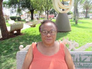"""""""A lei de proteção aos idosos é de grande importância para todos nós que precisamos de auxilio e segurança, nessa fase da vida. Buscar se informar e saber mais sobre está ferramenta, é exercer a cidadania"""".  Natália Aparecida  Tomaz Pereira, 64 anos, passadeira"""