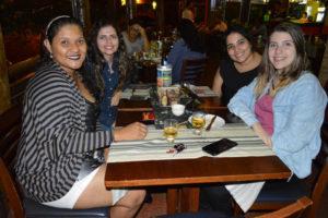 Letícia Ribeiro, Luana Manfrim, Bruna Cristina e Gabriela Cazaroti