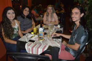 Luana Manfrim, Bruna Barbosa,  Gabriela Cazaroti e Leonardo Santos