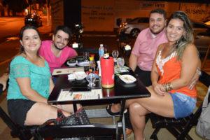 Armando Falcão a namorada Maria Rita Vicente, Archibaldo Júnior e a namorada Bruna Francelin