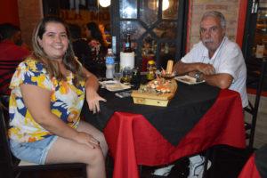 Hélio Alves Ferreira e a filha Gabriela Martins Alves Ferreira