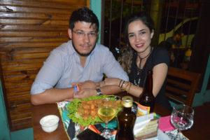 Miguel Mosel e a namorada Natália Cavasini Guerra