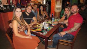 Felipe Romero/Graciele, Diego Rafachine e a namorada Jéssica Andrade, Ítalo  Bonomi e a namorada Cláudia Melo