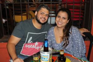 Rafael Lopes e a namorada Daniele Moraes