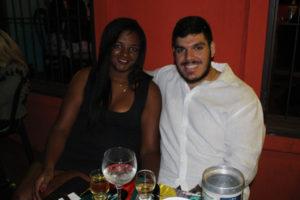 Wilson Miguel Gonçalves Júnior e a namorada Josy Gomes