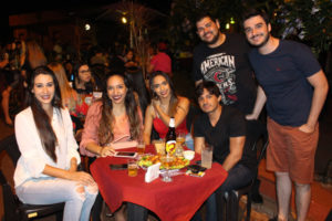 Ângela Chagas, Isabela Rocha, Ianca Rocha, Gabriela Frizo, Rafael Macedo e Eduardo Pereira