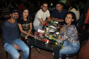 Jair Cherutti/Kelly, Luís Fernando, o cunhado Felipe Souza e a sogra Walétia Souza