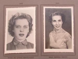 Lentes (professores) (1) Maria do Carmo Bertolazzo e (2) Edna Thereza Ceraso