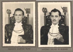 Os normalistas formandos: (3) Amador Sampaio Filho e (4) Antônio Sálvio de Rezende
