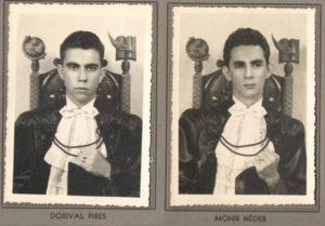 Os normalistas formandos: (1) Dorival Pires, (2 ) Monir Neder Amador Sampaio Filho