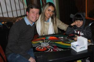 O Dr. Rogério Henrique Soares /Nayara Reis e o filho Benício Soares