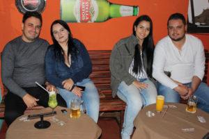 Anderson Lima/Érica Rodrigues, Leandro Ribeiro e a namorada Tamires Almeida