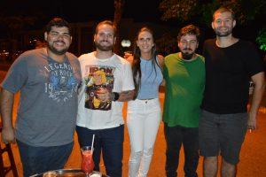 Eduardo Pereira, Carlos Magno, Érica Machado, Lúcio Jr e Marcelo Fadel