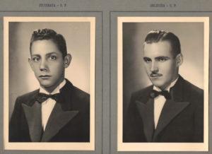 Os alunos: (1) Antônio Marques Pereira e (2) Arioaldo  Morandini