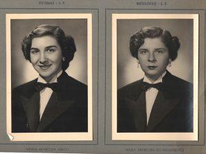 As alunas: (1) Maria Aparecida Giroli (2) Maria Aparecida Nascimento