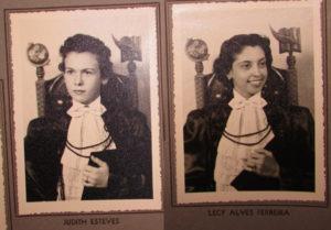 As normalista formandas (1) Judith Esteves (2) Lucy Alves Ferreira