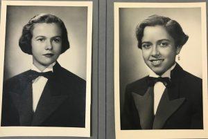 As alunas (1) Judith Esteves, de Guará e (2) Lydia de Paula Henrique