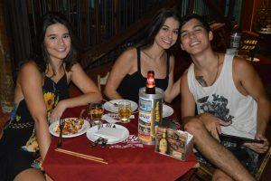 Rafaela Dias, André Ferri e a namorada Mariana Cucato