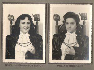 As normalista formandas: (3) Nelita Terezinha Santos e (4) Wilma Rezende Tosta