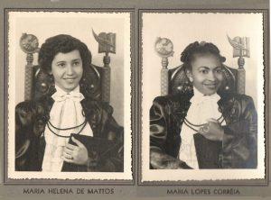 As normalista formandas:  (1) Mariinha Lopes Correa e (2) Maria Helena Matos