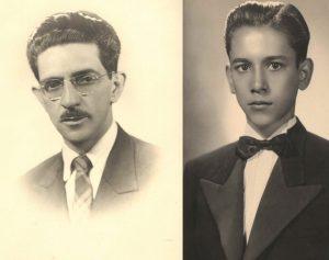 O professor: (1) Paulo Prado Garcia e (2) o aluno Antônio Mariano Peixoto