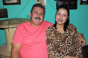 José Francisco Faria Spirlandelli e a namorada Caroline Dias