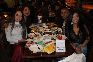 Bruno Galvão e a namorada Jéssica Oliveira, Isneider Miguel e a namorada Nathalia Sheiva