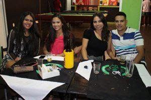 Bianca Belizario, Ana Laura Belizario, Wilson de Souza e a namorada Maria Eduarda Iredo