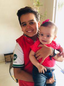 Joaquim Henrique  Comemorou 11 anos, dia 28 de agosto, Joaquim Henrique Ribeiro da Rocha. Ele recebe os parabéns dos pais Mauro Ribeiro e Viviane Rocha, dos avós, irmãos, padrinhos, amigos e familiares