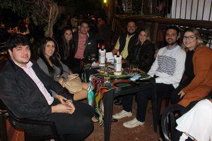 Thiago Bombig e a namorada Patrícia Duarte, Matheus Bombig e a namorada Júlia Teoro, Arthur Pires e a namorada Sibele Perin, Alexandre Borzani e a namorada Rafaela Politti