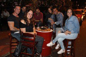 Ricardo Barrachi/Andréa Honorato e a filha Lara Barrachi, Rodolfo Costta, Everton Rici, Marcelo Barrachi/Jordana Morandin