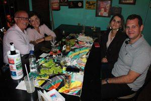 Renato Galdiano, comemorando o  aniversário com a esposa Valdete  Galdiano, Marcos Scapim/Raquel