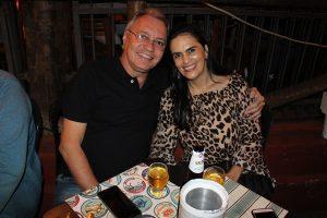 Luís Leite com a namorada Nara Filgueira