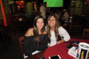 As amigas Sofia Romano e Ana Carolina Dias